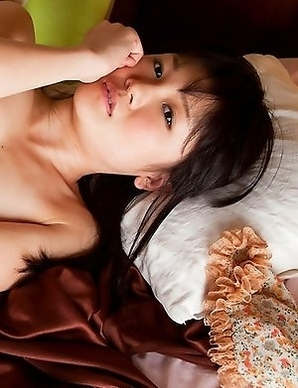 Ai Eikura with hot ass in thong covers her juicy boobies