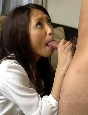 Sweet lady Aoi Miyama sucks a dong