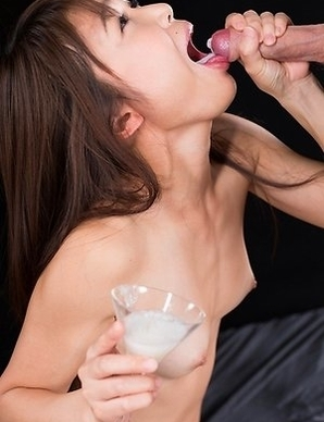 Shino Aoi Uses A Group of Guys' Cum For One Messy Handjob