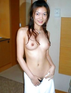 Chinese honey teasing and posing naked