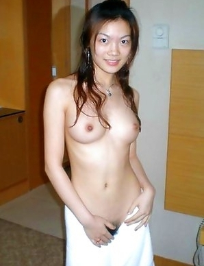 Chinese honey teasing and posing naked