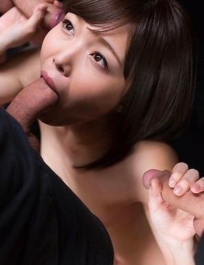 Shino Aoi Strokes with Cum