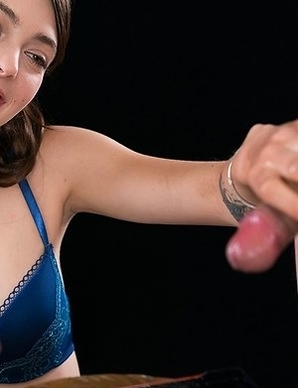 Tera Link Uses A Group of Guys' Cum For One Messy Handjob