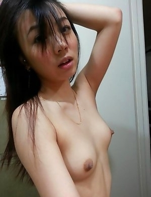 Kinky Japanese cocktease flashing naked body