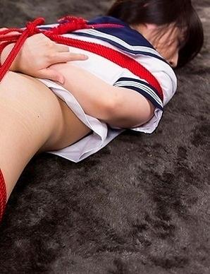 Supreme schoolgirl Mizuho Shiina slides her panties to the side to show it off