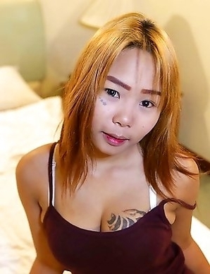 Tattooed Thai girl next door with big boob