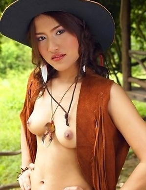 Alluring Milk Yada looks incredible in her cowgirl outfit.