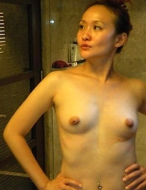 Chinese GF strips naked on cam