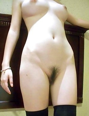 Nice selection of an Asian babe showing her bushy pussy