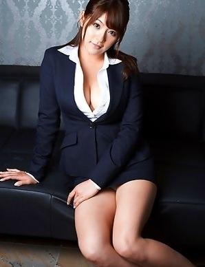 Meguru kosaka in tight skirt shows her huge knockers in white bra