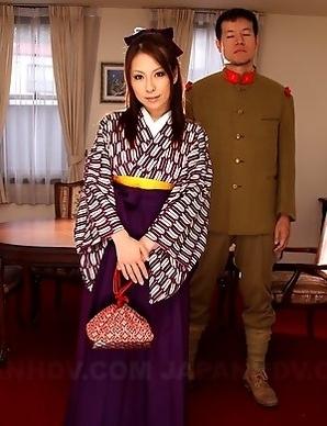 Nasty kimono lady Himeki Kaede