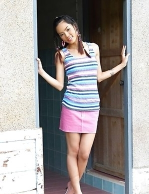 Christina Yho is in a public bathroom when she gets that feeling. She begins touching and rubbing on her body.