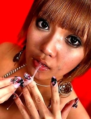 Hina Ootsuka plays with sticky cum